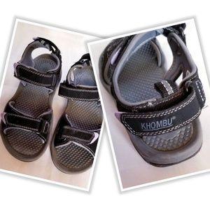 Khombu Cathy Open Toe Sandals Gray Size 7